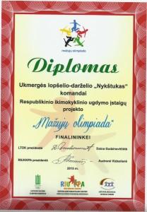DIPLOMAS MAZUJU OLIMPIADA